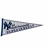 VTG 1998 New York Yankees 23 World Championships Pinstriped Felt Pennant Banner