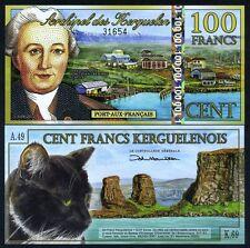 Kerguelen Island, 100 Francos, 2012 , Polymer UNC > Nuevo Holográfico S/S