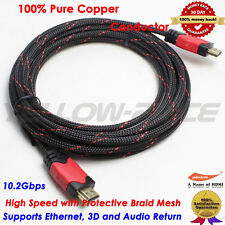 15FT Gold Plated HDMI Braided Cable V1.4 HD 1080P AudioVideo for LCD DVD HDTV TV
