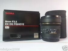 NEW Sigma 8mm F3.5 EX DG Circular Fisheye Lens (8 mm F/3.5) Lens for Nikon*Offer