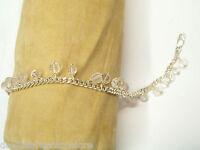 Bracciale in Argento 925 con Quarzo e Quarzo Rosa - Braccialetto Pietre Dure -