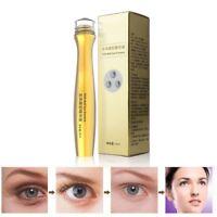 Luxury 24K Gold Under-Eye Roller Ball Cream Anti Aging Dark Circle Essence  DM