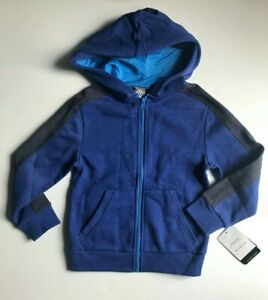 new CHAMPION little boys FULL ZIP FLEECE HOODIE sz XS 4-5 blue sports jacket