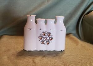 """New, Floral Container with Jewel, The Bloom Room 7"""" X 5"""""""