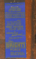 40s Honolulu TH Hawaii CROWN Match Advertising Matchbook Wright's Place King ST.