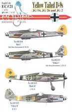 EagleCals Decals 1/48 FOCKE WULF Fw-190D-9 Yellow Tail Fighters JG54 JG26 & JG2