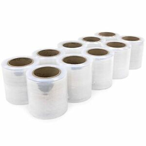 """IDL Packaging 5"""" x 1000' Stretch Wrap Mini Roll of 80 Gauge Pack of 10 Replen..."""