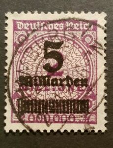 German Reich Rare Colour 5 Milliarden On 2 Millionen Stamp Michel 332 AWb