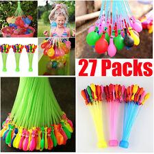 27 Packs 999pcs Magic Water Balloons Bombs Toys Kids Garden Party Summer Amazing