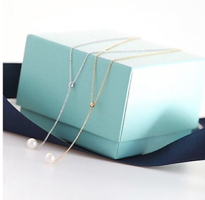 Simulated Pearl Women Clavicle Necklace Tassel Adjustable Chain Pendant