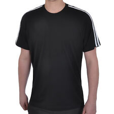 adidas Performance Mens Short Sleeve Cotton Gym T Shirt Top - Black - XL (46/48)