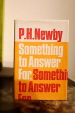 Something to Answer for 1st/1st  NF/NF Book,  P. H Newby, rarest Booker Winner