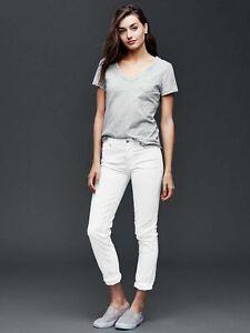 The Gap Denim Jeans Womens Size 28 White Regular Fit Best Girlfriend Mid Rise