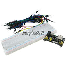 65PCS Jump Cable Wires+MB102 400Point Solderless PCB Breadboard+Power Supply W