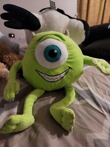 "Disney Vintage Monsters Inc. Mike Wazowski Stuffed Plush Animal 8"" Pixar Toy"