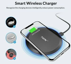 10W Fast Wireless Charger Charging Pad Mat For Huawei p30 p30 Pro p20  p20 Pro