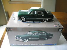 USA MODELS BY PRECISION MINIATURES 1950 FORD CUSTOM 4-DR SEDAN GREEN 1/18 SCALE