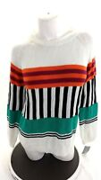 NWT NY COLLECTION WOMENS MULTI-COLOR RAMIE COTTON SWEATER SIZE L