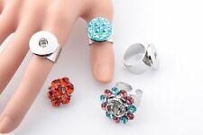 DIY adjustable ring fit 18mm chunk snap button size you change snap charm