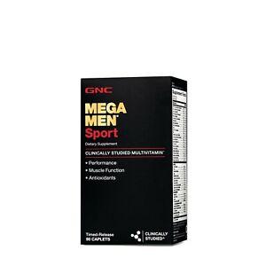 GNC Mega Men Sport Multivitamin Dietary Supplement, 90 Timed-Release Caplets