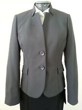 G2000 Women's Blazer Business Suit Jacket Dark Grey Size 38 or Size 8 Fitted1