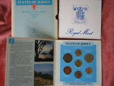 Jersey 1987 Brilliant Uncirculated coin colection year set