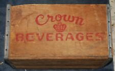 Vintage Crown Cola Wood Advertising Crate Carrier, Erie, PA
