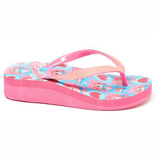 Wedge Flip Flops Slipper Beach Sandals SHOPKINS CUPCAKE CHIC Pink Girls Size 2/3