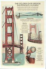 Golden Gate Bridge, San Francisco, California, Construction - Technical Postcard