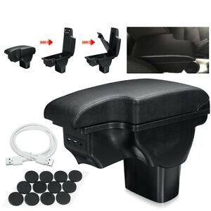 For Nissan Juke 2011 - 2019 Car Armrest Arm Rest + Assembly Set Black Textile