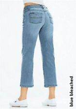 H.I.S Capri Jeans Ophra Size 40 new ladies 7/8 Trousers Blue Bleached