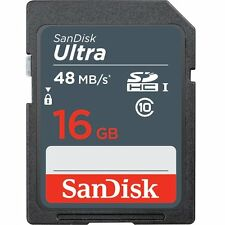 Genuine SANDISK ULTRA 16 GB SD SDHC PLUS Memory Card Class 10 UHS-I 48MB/s 16G