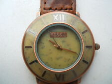 Fossil women's brown leather.quartz,battery,water resist & Analog watch.BW-6782