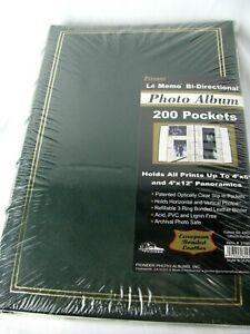 Le Memo Bi-Directional Photo Album w/ 200 Pockets - NEW OLD STOCK