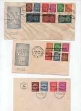 ISRAEL 1948/1951 3 NICE FDC INCLUDED DOAR IVRI FULL SET SCOTT N°1/9 W/O TABS