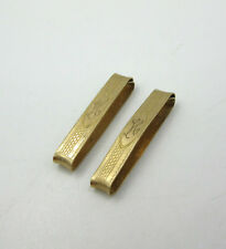 Antique 10K Yellow Gold Lingerie Pins Pair Signed