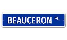 "5250 SS Beauceron 4"" x 18"" Novelty Street Sign Aluminum"