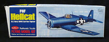 COMPLETE WWII US Navy F6F Hellcat - Guillow's Rubber Powered Balsa Model Kit 503
