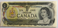 New listing 1973 Canada $1 One Dollar Canadian Bank Note, Lawson & Bouey Bc Series