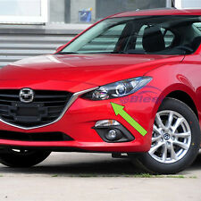 Auto Chrome Headlight front light lamp cover trim For 2014 2015 2016 Mazda 3