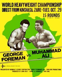 MUHAMMAD ALI vs GEORGE FOREMAN 8X10 PHOTO BOXING POSTER PICTURE