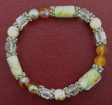 Style Stretch Bracelets Ms15 Lovely Gold-Color Yellow Murano