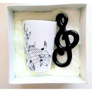 Music Themed Mug with G Clef Handle