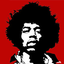 Maintenant Seulement £ 2.50 Jimi Hendrix Pop Art Carte de vœux Matt Smith Signé Peinture