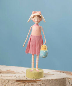 Bethany Lowe Easter Resin Figurine Bunny Dress Up Bonnie Michelle Lauristen