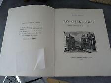 Drevet Joannès Paysages de Lyon Chagny planches