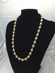 """Chain Unique Men/lady 24"""" Heavy Gold coloured link Chain Ball Necklace Jewelry 8"""