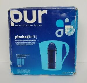 PUR Pitcher Filter Refill 3 pack Replacement CRF-950Z Water Filtration System