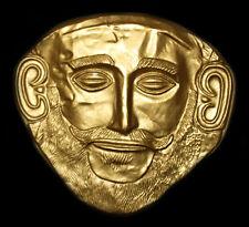 Gold Mask of Agamemnon Mycenaean Mycenae Troy Death Face Wall Sculpture Replica
