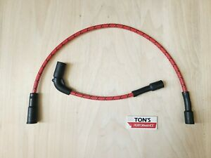 Red Black Cloth 8mm Harley 48 72 883 1200 Sportster Replacement Spark plug wires